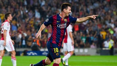 Lionel Messi: On target yet again in Barcelona win