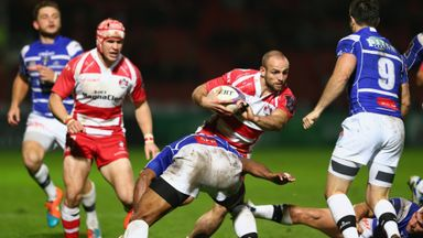 Charlie Sharples: Marked his milestone appearance with a hat-trick of tries