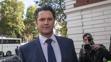 Former New Zealand cricketer, Chris Cairns, arrives at The City of Westminster Magistrates Court on October 2, 2014 in London