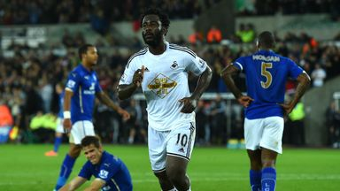Wilfried Bony: Scored for the third game in a row for Swansea