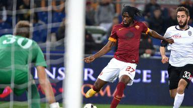 Roma's Gervinho in action against Cesena
