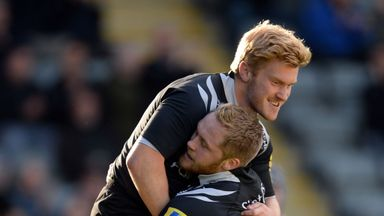 Tom Catterick and Alex Tait: Both graced the scoresheet as Newcastle Falcons progressed in Europe