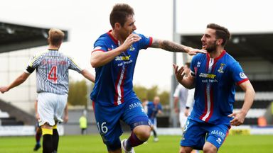 Greg Tansey: Celebrates converting penalty for Inverness