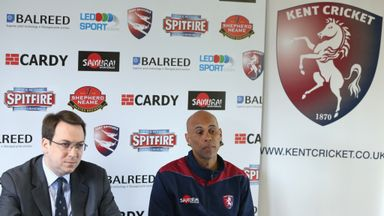 Jimmy Adams, right, Kent head coach has signed new deal