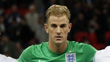 Joe Hart: Quiet game against Slovenia