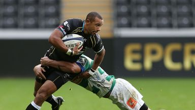 Eli Walker: Scored in a losing cause for Ospreys