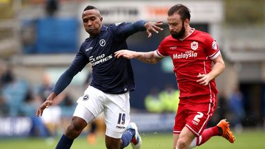 Ricardo Fuller (left): Millwall striker battles for the ball with Cardiff's John Brayford