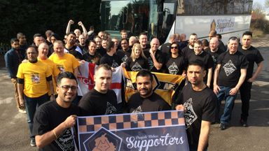 Pete Bassi (front, right) with the Punjabi Wolves Supporters