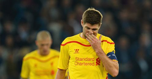 Steven Gerrard: Frustrated by Liverpool's lack of fight