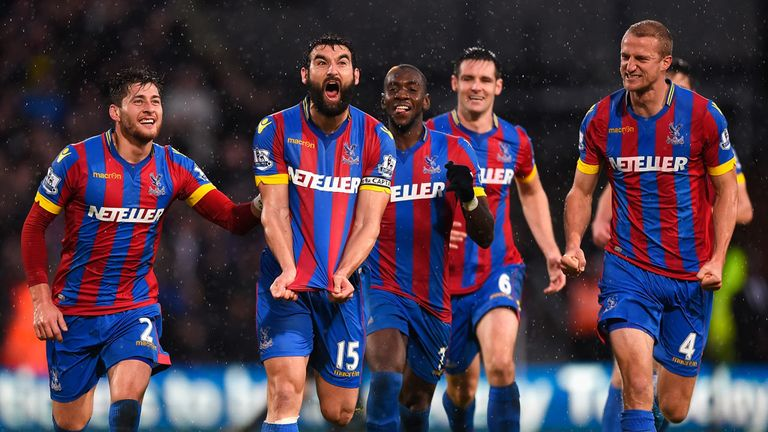 Jedinak and Crystal Palace celebrate the goal that sealed a superb victory over Liverpool