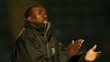 Jimmy Floyd Hasselbaink: Delighted by Burton display