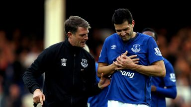 Antolin Alcaraz was injured during Saturday
