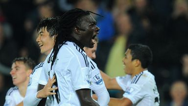 Bafetimbi Gomis netted the winner against Arsenal in the last match at the Liberty.