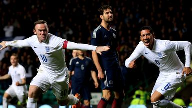 England beat Scotland 3-1 in a friendly at Celtic Park in November 2014