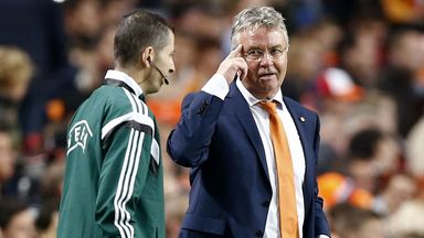 Guus Hiddink: Saw his side thrash Latvia in Amsterdam