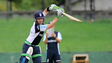 Ian Bell: Batting in a practice session after rain wiped out the second warm-up match