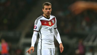 Lukas Podolski is heading back to Turkey for further treatment on his ankle