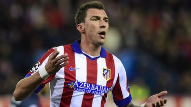 Mario Mandzukic: Celebrates after scoring his second goal