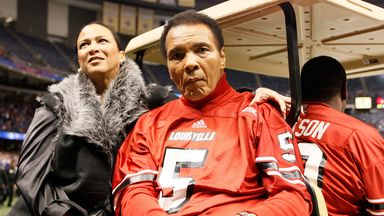 Boxing legend Muhammad Ali, pictured here in 2013, has been taken to hospital suffering from pneumonia