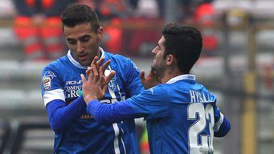 Matias Vecino celebrates after opening the scoring