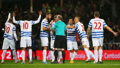 QPR: Protest to referee Mike Dean as Charlie Austin