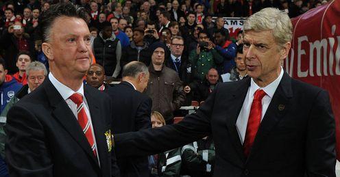 Louis van Gaal: Increased the pressure on Arsenal boss Arsene Wenger