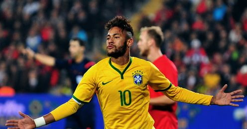 Neymar: Was once again Brazil's star man in the French capital