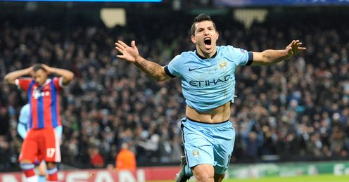 Sergio Aguero was the hat-trick hero for Manchester City in the 3-2 victory over Bayern Munich