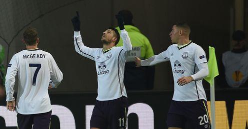 Kevin Mirallas: Celebrates Everton's second goal