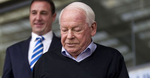 Wigan Athletic chairman Dave Whelan and manager Malky Mackay