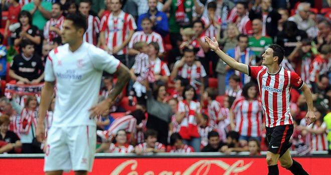 Aritz Aduriz and Athletic Bilbao claimed victory