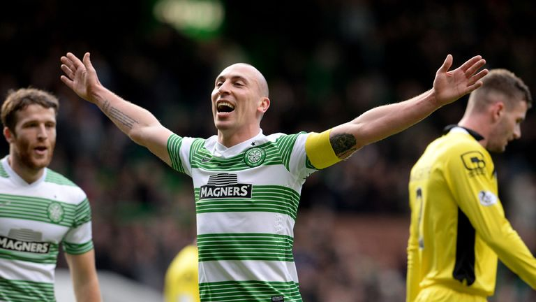 Celtic captain Scott Brown: Scored twice in win over St Mirren