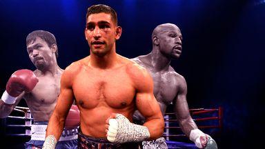 Amir Khan is backing Floyd Mayweather to win in Las Vegas