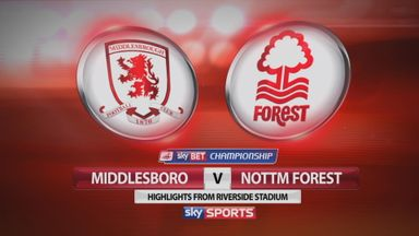 Middlesbrough 3-0 Nottingham Forest