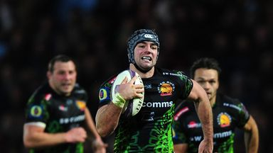 Adam Hughes: Scored one of five Exeter tries against La Rochelle