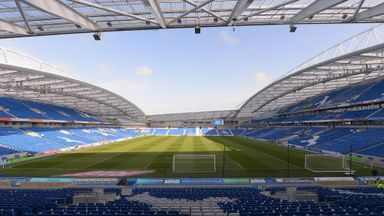 Brighton and Hove Albion's home at the Amex Stadium