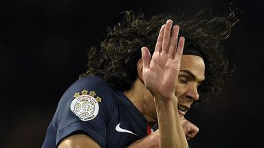 Edinson Cavani takes evasive action