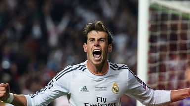 Bale helped Madrid win the Champions League