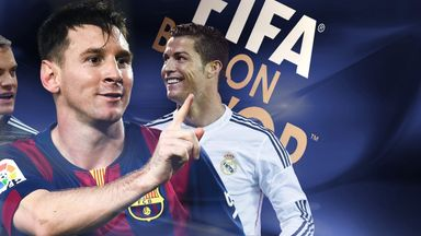 Manuel Neuer (L) joins Lionel Messi and Cristiano Ronaldo on shortlist