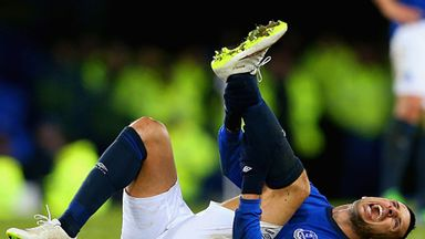 Kevin Mirallas: Taken off on a stretcher on Monday