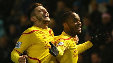 Raheem Sterling: Celebrates his decisive strike for Liverpool