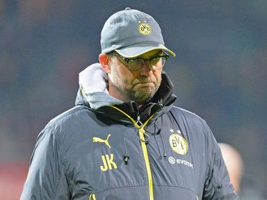 A dejected Jurgen Klopp following defeat to Werder Bremen