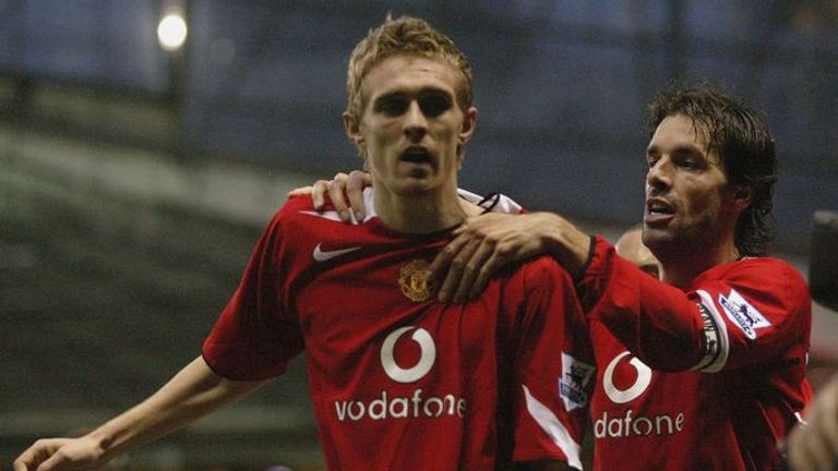 Darren Fletcher scored his maiden goal for Manchester United at Middlesbrough on January 1, 2005