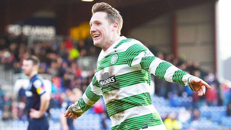 Kris Commons: Celebrates Celtic's goal against Ross County