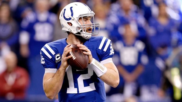 Andrew Luck: The Colts quarterback will face Peyton Manning and the Denver Broncos on Sunday.