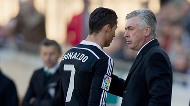 Ronaldo departs after his red card