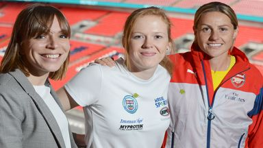 Katie Richardson-Walsh, Alice Powell and Kelly Smith (L-R)