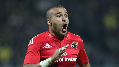 Simon Zebo: Scored a try on his return to the Pro12