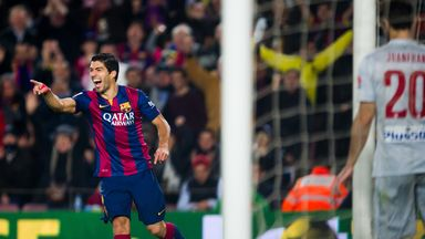 Luis Suarez  has scored five goals for Barcelona