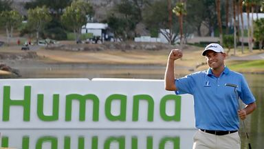 Bill Haas: Celebrates his second Humana Challenge title